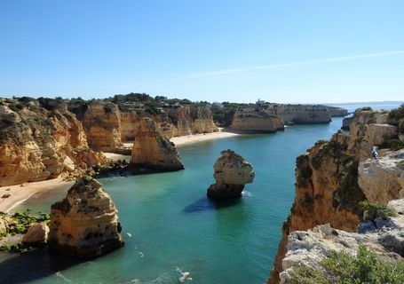 """The Algarve's Majestic Coastline"""